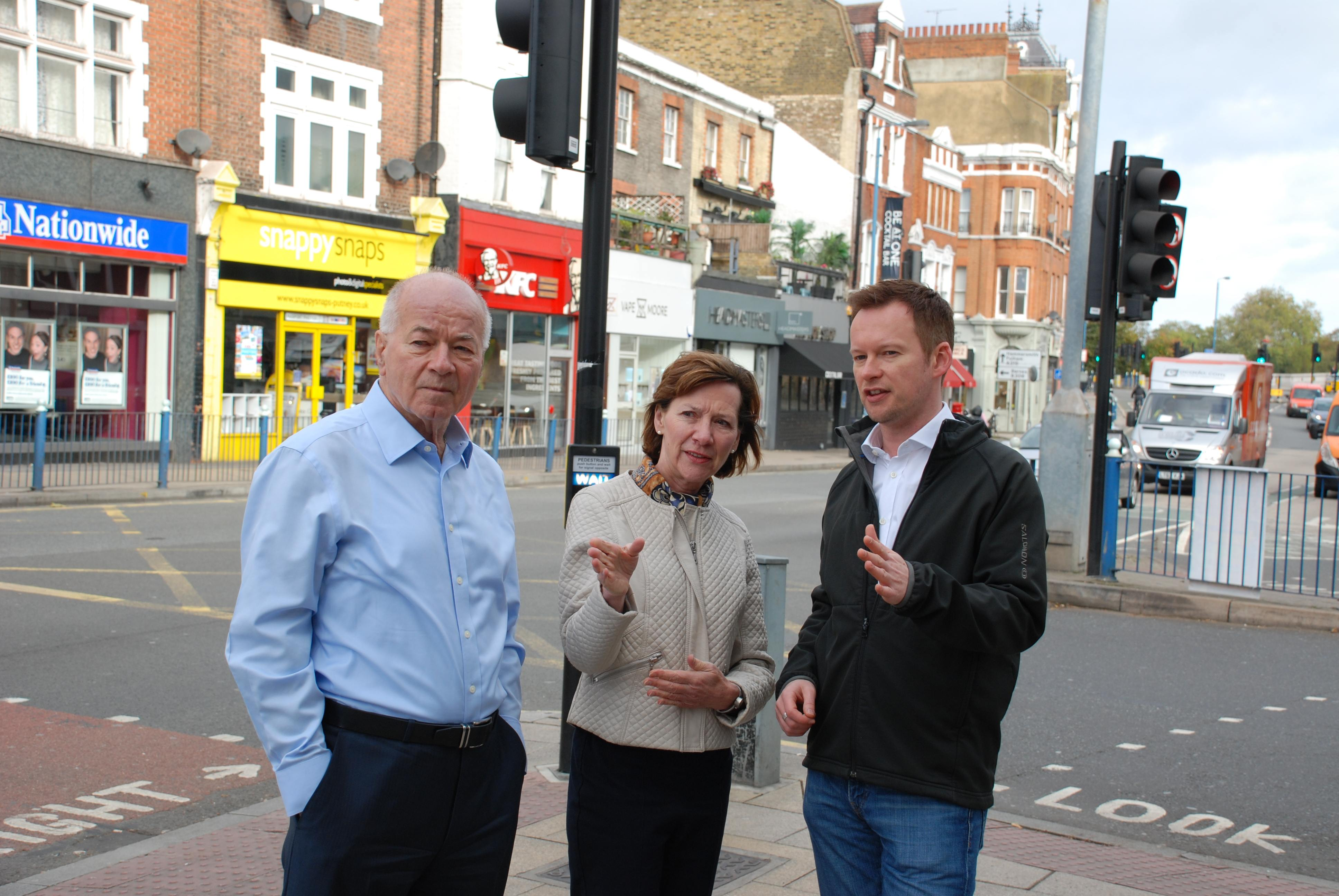 Thamesfield councillors discuss the options for Putney High Street