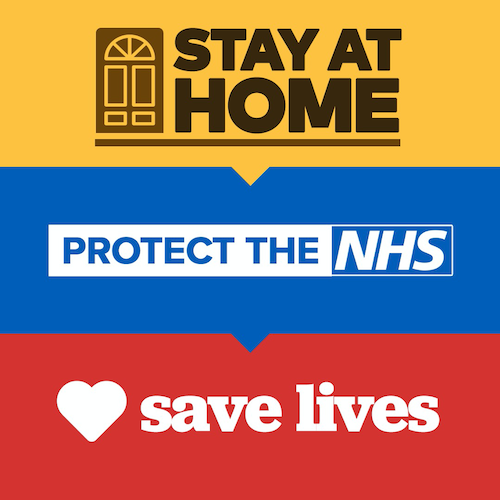 Stay at home, protect the NHS to save lives.